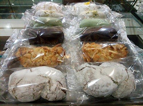 Paste di mandorle assortite ((pistacchio,mandorla,cioccolato) siciliane scatola 500 g