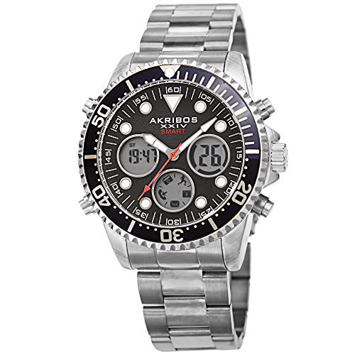 Akribos Multifunction High Tech Diver Smartwatch - Diver-Style Watch with...
