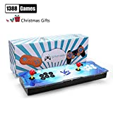 GroGoo [1388 HD Arcade Games] Arcade Video Game Console 1388 Retro Juegos Pandora's Box 5s Plus Arcade Machine Doble Arcade Joystick Built-in Speaker