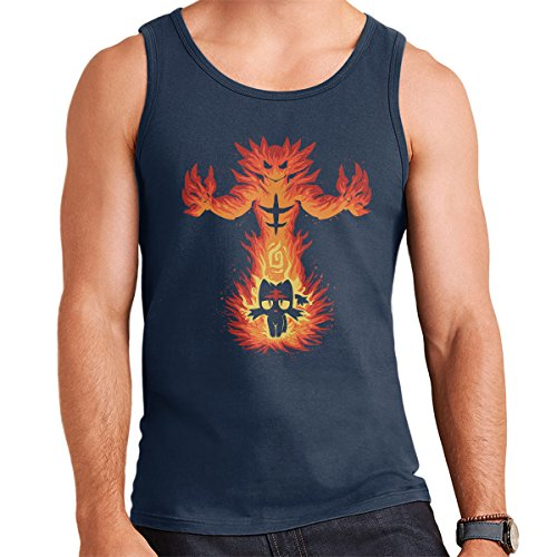 Inner Fire Cat Incineroar Litten Pokemon Men's Vest Navy Blue
