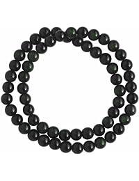 TerreZen Bracelet charms et perle - Obsidienne - Bijou en pierre naturelle  - Noir - Uriel - Cadeau Femme pas cher… 94826ecec746