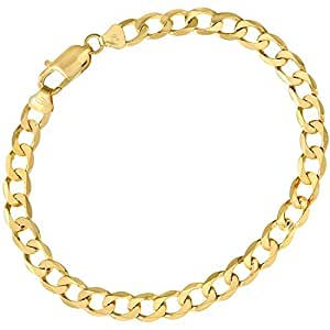 Citerna 9 ct Yellow Gold 11.2 g Curb Bracelet of 22 cm/8.5 Inch Length and 6.6 mm Width