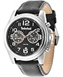 Timberland Men's Black Leather Strap Watch