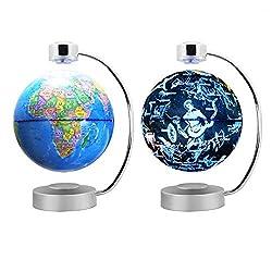 """Aidudo Globus Beleuchtet, 8"""" LED Sternbild Magnet Globus, Touch kann Zwei Modus ändert Sich,Magnetische Kugeln interaktiver globus für Kinder, Wohnkultur Büro Dekoration"""