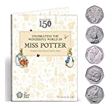 Full Sets 2016 BEATRIX POTTER 5 x 50p Fifty Pence with Coin Hunt Collector Album Folder - Uncirculated Coins Out of Royal Mint Sealed Bag