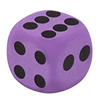 UANGER Large EVA Foam Dice Block Party Stress Relief Toy Game Prize for Children,Suitable for airplane chess,Daily entertainment,3.8x3.8x.3.8 CM