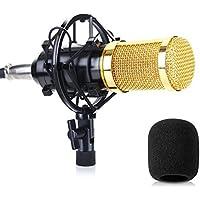 Micrófono SUMGOTT - Micrófonode Condensador profesional Podcast Studio, para YouTube, Skype, FaceTime, Vocals, Podcast