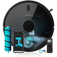 Cecotec Robot Aspirador y Fregasuelos Conga 5490. Tecnología láser, 10.000 Pa, Cepillo Jalisco, Room Plan,App, Cepillo Especial Mascotas, Compatible 5 GHz, Mando a Distancia