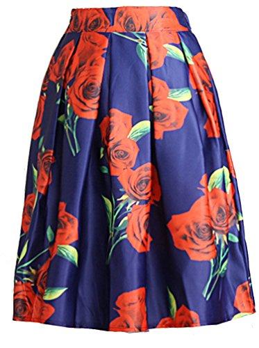 helan-mujeres-alta-cintura-de-la-colmena-de-la-vendimia-falda-de-flores-azul-rose