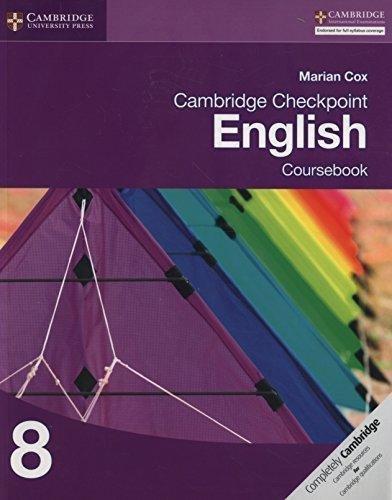 Cambridge Checkpoint English Coursebook 8 [Paperback] [Jan 01, 2013] MARIAN  COX
