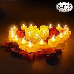 24 Pcs Velas LED boda