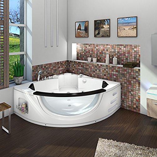 Whirlpool Pool Badewanne Eckwanne Wanne A1506N-ALL 152x152cm Reinigungsfunktion, Sonderfunktion1:mit Radio+Farblicht +50.-EUR;Selfclean:ohne +0.-EUR