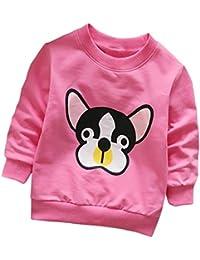 Camisetas para 0-3 Años, Zolimx Niñas Niños de Manga Larga de Dibujos Animados Perro Tops Suaves Camiseta Sudaderas Bebé…