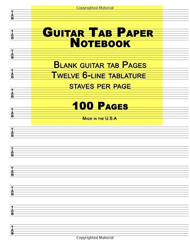 guitar-tab-paper-yellow-cover-blank-guitar-tab-paper-notebook-featuring-twelve-6-line-tablature-stav