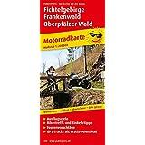 Fichtelgebirge - Frankenwald - Oberpfälzer Wald: Motorradkarte mit Ausflugszielen, Einkehr- & Freizeittipps und Tourenvorschlägen, wetterfest, reissfest, abwischbar, GPS-genau. 1:200000