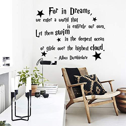 ONETOTOP Albus Dumbledore Zitat Aufkleber Vinyl Muurtattoo Aufkleber Kindergarten Kinder Baby Kinderen Decor Home Decor Slaapkamer57 * 73cm (Dumbledore-zitat-aufkleber)