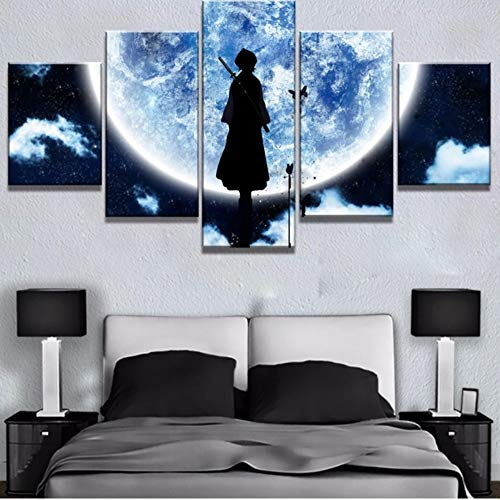 sshssh Kein Rahmen Modulare Bild Hd Druckt Leinwand Malerei 5 Stücke Bleach Anime Dekoration Cartoon Wandkunst Für Wohnzimmer Kunstwerk Poster