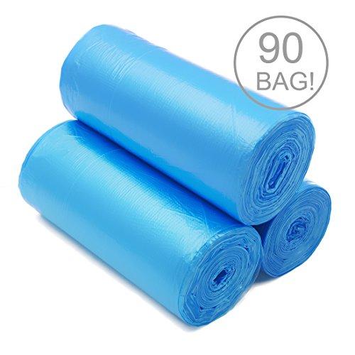 ackmond 20L handle-tie trasparente piccolo sacchetto per rifiuti cestino della spazzatura Bidone Immondizia Sacchetti (90), colore: blu