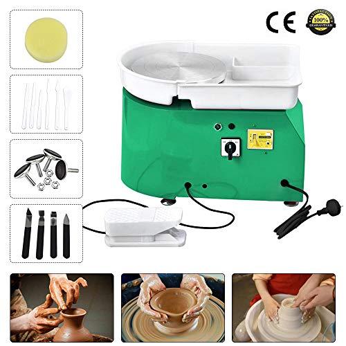 topqsc ruota di ceramica elettrica 25cm 350w macchina per ceramica ceramica strumento per formare argilla macchina kit attrezzi da lavoro fai-da-te in ceramica a forma di argilla