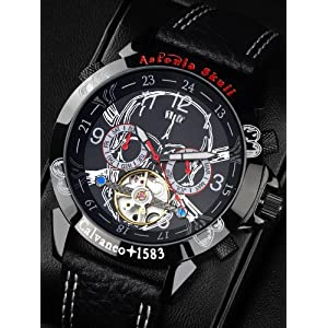 51IOd6egDFL. SS300  - Calvaneo-107630-Reloj-correa-de-cuero-color-negro