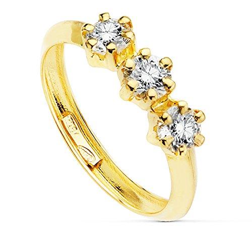 Sortija Mujer oro amarillo Claris Oro 18K