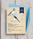 personalisierbar Painted Birds Hochzeitstag Einladungen mit Umschlägen (10Stück)