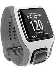 TomTom Runner Cardio GPS-Sportuhr weiß/grau