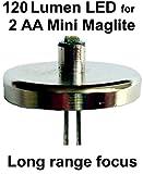 Mini Maglite AA LED Upgrade Birne 120 Lumen 1 watt Taschenlampe Modul, UpLED