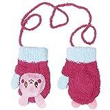 CHIC-CHIC Moufles Gants Chauds Bébé Filles Garçons Toddler Enfants Tricot Animal Mignons (Lapin)