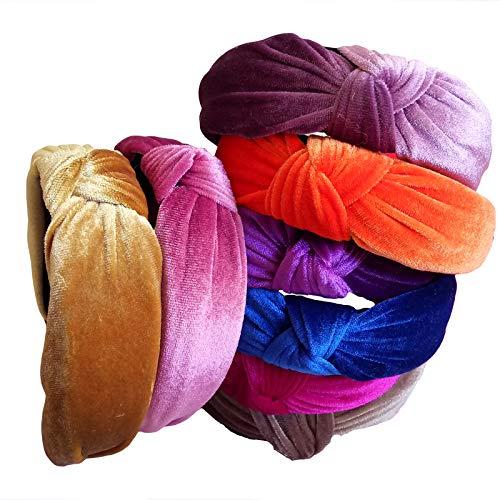 Weinlese-Samt-Knoten-Entwurfs-Normallack-Stirnband-Weibliches Mode-Stirnband-Kundenspezifische Haar-Zusätze