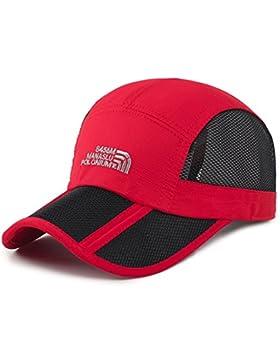 Estwell Hombre Mujer Gorra de Béisbol Sombrero de Sol Sombreros Verano Ajustable Plegable Gorra de Golf
