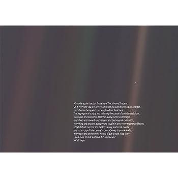 Carl Sagan Quote A Pale Blue Dot Poster Art Print A0 A1 A2 A3 A4 Maxi