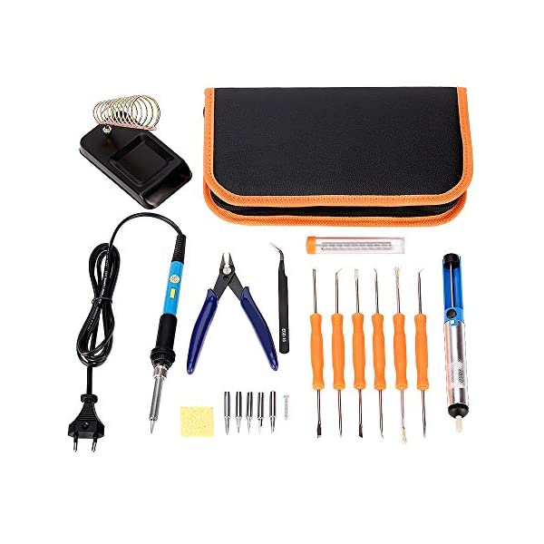 Homvik Kits de Soldadura de Estaño Profesional 17 Piezas Soldadores Electrónico