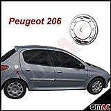 Peugeot 206 / 206 Plus 1998-2012 Chrom Tankdeckel Blende V2A Edelstahl Aksion