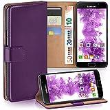 moex Samsung Galaxy A5 (2016) | Hülle Lila mit Karten-Fach 360° Book Klapp-Hülle Handytasche Kunst-Leder Handyhülle für Samsung Galaxy A5 2016 Case Flip Cover Schutzhülle Tasche