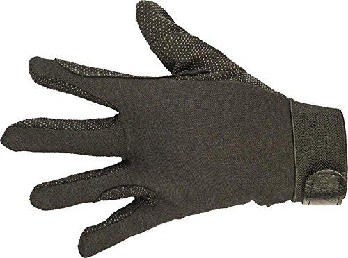 HKM Damen Reithandschuh aus Baumwolle Handschuhe, Schwarz, S