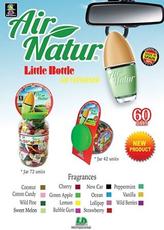 Stylisch-modisches Air Natur Little Bottle Duftflakon Lufterfrischer Auto- und Raumduft 6ml - Duftsorte Cherry - Kirsche