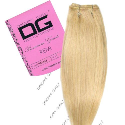 Dream Girl Extensions de cheveux Remi sur trame Couleur 22/613 40,6 cm