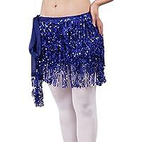 SunWanyi Danza del Vientre de con Lentejuelas y Cinturón de Danza del Vientre para Las Mujer
