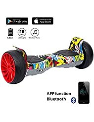 "EVERCROSS Hoverboard Challenger GT 8,5"" Gyropode Tout-terrain Smart Skateboard Électrique de Boutique GyroGeek (Hip-hop)"