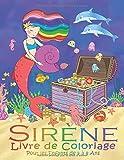 Sirène Livre de Coloriage Pour les Enfants de 4 à 8 Ans