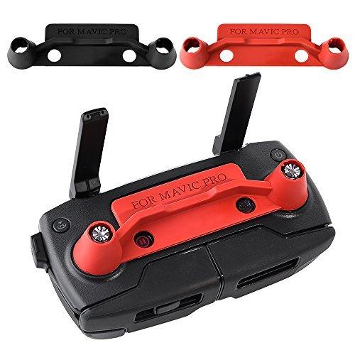 Preisvergleich Produktbild KUUQA 2 Stück Upgrade Version Transmitter Controller Stick Daumen Schutzclip Rocker für Dji Mavic Pro, Rot und Schwarz (DJI Mavic nicht im Lieferumfang enthalten)