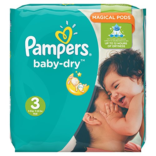 Pampers Baby-Dry Nappies Monthly Saving Pack – Size 3, Pack of 198