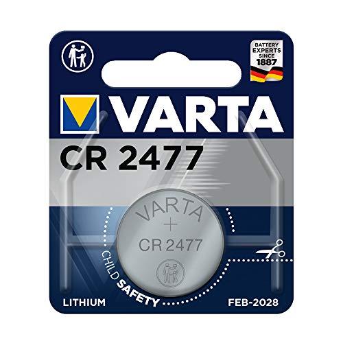 Varta 6477101401 Electronics CR2477 Lithium Knopfzelle Single Blister 3V Batterie Silber, 1er Pack