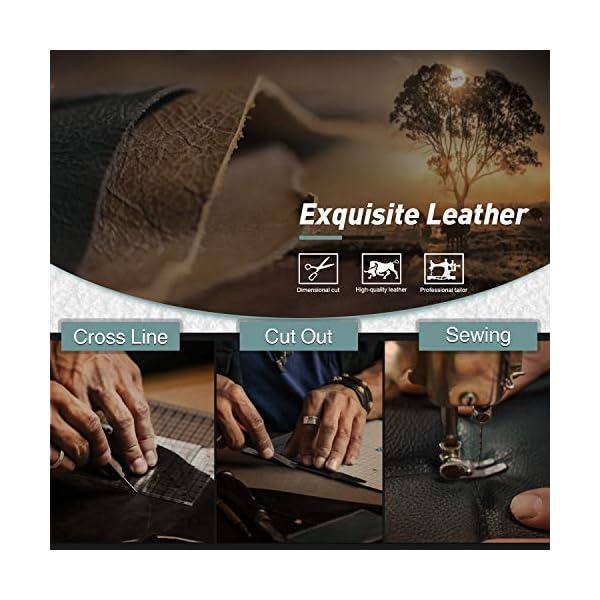 Portafogli Uomo RFID bloccante in pelle con cerniera portamonete e porta banconote e chiusura a bottoni e 17 porta carte… 3 spesavip