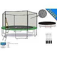 LifeStyle ProAktiv Trampoline LS-T370-PA12 (G) Jardin - 370 cm - Fort Filet de Sécurité - 180kg Capasite - New