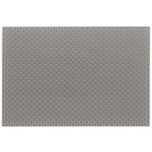 Kela 11374 Plato Set de table PVC/Polyester Gris Clair 45 x 30 x 1 cm