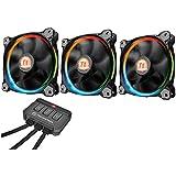 Thermaltake Riing LED RGB Ventilateur pour Boîtier Multicolore