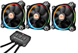 Thermaltake Riing 14 LED RGB - Pack de 3 ventiladores, color negro