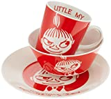 "'Moomin Valley characters lilla My Plate Bowl Tazza Cup Gift Box; Size: piatta; Dia 195 mm x H25 mm (7.68 ""x0.98"") * 1, Bowl; dia135 mm x H50 MM (5.31 ""x1.97"") * 1 tazza cup; Dia 85 mm x H90 mm (3.35 ""x3.54) * 1; Weight: About 1,050 g; Materi..."